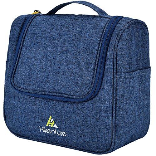 Kulturtasche zum Aufhängen von Hikenture - Camping Kulturbeutel für Damen und Herren - Waschbeutel Kosmetiktasche mit Haken - für Reisen, Urlaub, Outdoor (Blau)