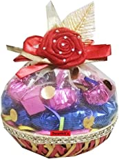 Swankit's Gift Basket with Coconut,Crackle, Fruit & Nut Centre Filled Chocolates 200 g