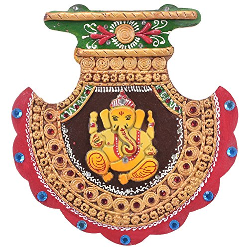 Decorative Wooden Handicraft Home Décor Wall Hanging Ganesha by Shree Sugandh  available at amazon for Rs.350