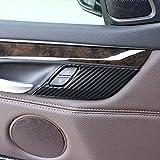4x Carbon Faser ABS Sicherheit Tür Lock Deckel Besatz für X5X6F15F162014–2018KFZ Zubehör