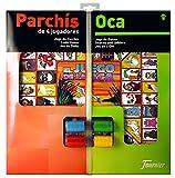Fournier - Tablero Parchís/Oca y fichas, 40 x 40 cm, para 4 jugadores...