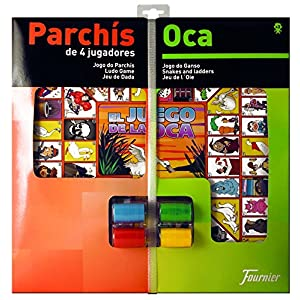 Fournier – Tablero Parchís/Oca y fichas, 40 x 40 cm, para 4 Jugadores (F29467)