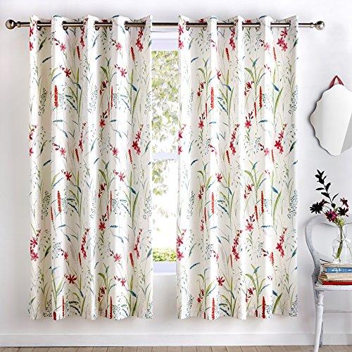 Dreams und Drapes Vorhänge, 52% Polyester, 48% Baumwolle, Mehrfarbig, 167,6cm Breite x 182,9cm Drop (168x 183cm)