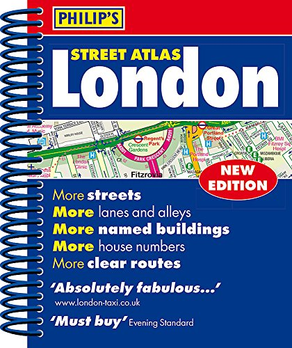 Philip's Street Atlas London - new spiral-bound edition for 2018: Mini Spiral Edition por Philip's Maps
