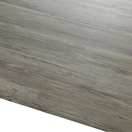 [neu.haus] Vinyl-PVC Design Bodenbelag - 0,975 qm - selbstklebend - Eiche grau matt - Laminat/Dielen (Im Spinnen Wc)