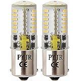 Ba15s 1156 1141 Ampoule 12v 3 Watt LED Baïonnette unique Contact, Blanc chaud 3000K 350lm, Pour l'éclairage intérieur RV cara