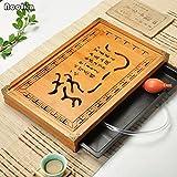 Pinkdose® Pinkdose Noolim Kung Fu Tea Set Natural Wood Bamboo Tea Tray Rectangular Traditional Bamboo Tea Accessories Set