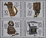 Prophila Collection DDR 3226-3229 Viererblock (kompl.Ausgabe) 1989 Telefone (Briefmarken für Sammler)