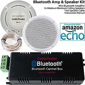 Smart home amplificateur bluetooth 2x kit haut parleur - Systeme audio salle de bain ...