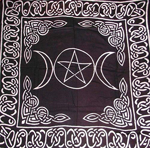 New Age Tripple Goddess Tapete de Tarot, diseño con estrella de 5 puntas