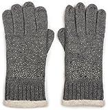 styleBREAKER caldi guanti con strass e pile, guanti invernali in maglia, donna 09010010, colore:Grigio