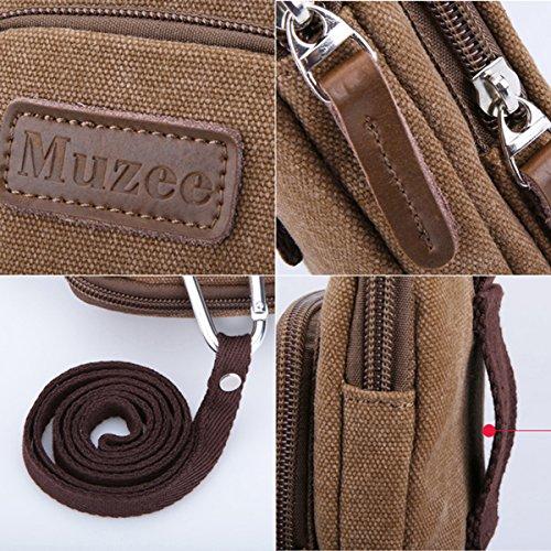 Eshow Piccolo pacchetto Hiking Bag Borsa Girovita Escursionismo Borsa impermeabile all'Aperto Multifunzione Sport esterni dell'esercito tattico di campeggio escursionismo Bag Marrone Chiaro Marrone Chiaro