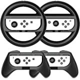 HEYSTOP Volantes y Grip Compatible con Nintendo Switch y Switch OLED, Switch Grip Racing Wheel Volante, Mandos Grip para Mari