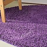 GXQ Runde Teppich gepolsterte Schlafzimmer Kopfteil waschbar, maschinenwaschbar (Farbe : Purple, größe : 100cm(39inch))