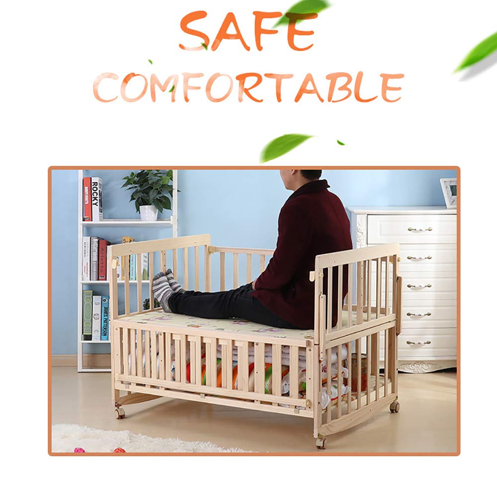 VBARV Solid Wood Environmentally Friendly Paint-free Twin Crib, Baby Double Child Bed, Queen Size Bed, Matching Seven-piece Set VBARV Environmentally friendly, no paint, made of pure solid wood, it is really for the health of the baby! Safe care, close to the natural colors, unique design style set the essence of a lifetime. Anti-corrosion and insect-proof, strong durability, anti-interference aging, corrosion resistance, water resistance, good coloration. 5