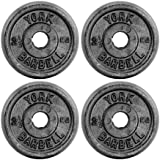 York Fitness Standard Cast Iron Discs - Pack of 4