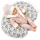 Sharlene Mini- Stillkissen aus Baumwolle mit Bezug - Schadstoffgeprüftes Lagerungskissen - Mikro-Perlen Baby Kissen - Seitenschläferkissen