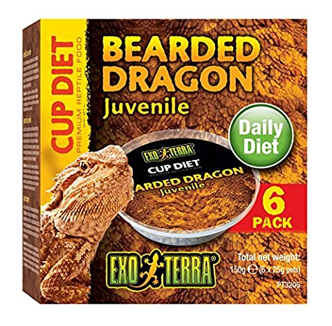Exo Terra Cup Diets Juvenile Bearded Dragon Food, 150 g