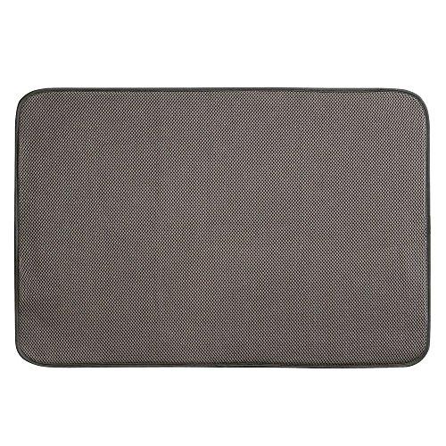 InterDesign iDry Abtropfmatte extragroß, dünne Spülbeckenmatte aus Polyester zum schnellen...