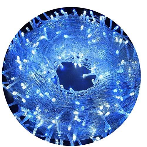 AIZESI Lichterkette Außen 20m LED Lichtschläuche Lichterkette mit Batterie Innen für Kinder Schlafzimmer,Hochzeit,Weihnachtsbaum,Festival Party,Garten,Patio(Blau)