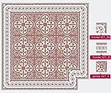 64 X Zementfliesen Fliesenbild Jamila 447_4 kombiniert mit kordel 521_6