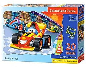 "CASTORLAND ""Premium Maxi Racing Acción Rompecabezas (20-Piece"