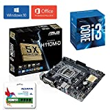 #6: Combo offer - Intel Core i3 7100 7th Generation 3.90 GHz Processor + ASUS H110M-D Motherboard + 4GB DDR4 Ram + Windows 10 Pro + Office 2016 with GST Invoice