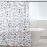 Duschvorhänge transparent/Duschvorhänge, Magiclux Tech Schimmelresistent Anti-Bakteriell Duschvorhänge Wasserdicht PEVA Stoff mit 12 Duschvorhangringe für Badezimmer, 180 x 180cm (Bunte Kreise)
