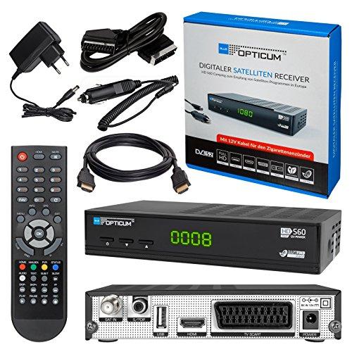 HB DIGITAL DVB-S/S2 CAMPING SET: Hochwertiger DVB-S/S2 Receiver + KFZ Adapter 12V + SCART Kabel + HDMI Kabel mit Ethernet Funktion und vergoldeten Anschlüssen (HD Ready, HDTV, HDMI, SCART, USB 2.0, Koaxial S/PDIF Ausgang, S60, 12v/230V)