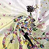 Lustige Blumen-/Schmetterlings-/Fahrraddecke für Sofa, Bett, Couch, leicht, für Reisen, Camping, 152,4 x 127 cm, große Größe für Kinder, Unisex und Damen Vergleich