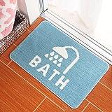 XINQING Bad Matte Matte Zimmer - Bad - Matte Teppich Kinder Hall Wasser Bad Antiskid Matte 50 x 80 cm,blau