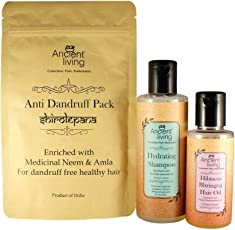 Ancient Living Organic Anti - Dandruff Combo pack - For a dandruff free healthy hair (Hair oil, Shampoo, Hair pack)