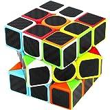 Gusspower Rubik's Cube Zauberwürfel, Original 3D Puzzles Magic Würfel 3x3 Speedcube Spielzeug, Kohlefaser Aufkleber für Schneller und Präziser