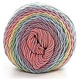 Ymysfit Strickgarn mit Farbverlauf Baumwolle Weichen Chunky Bunte Hand Stricken häkeln Strickwolle Mehrfarbig Baby Baumwolle Knitting Garn