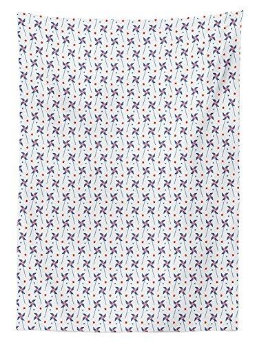 Yeuss 4. Juli Tischdecke Pin Rollen Flagge Motive Star Gef¨¹llt Hintergrund Unabh?ngigkeit Tag, Esszimmer K¨¹Che Tisch, rechteckig, rot wei? blau 60