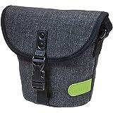 Dörr 463375City Basic Taille Photo Housse pour 1appareil photo compact/SLR avec objectif et 1Système de flash Gris/citron vert