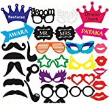 #3: Discount Retail Photo Booth Party Props - 31 piece DIY Kit