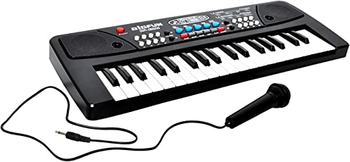 See Inside || 37 Key Piano Keyboard Toy with DC Power Option, Recording and Mic for Kids - 2018 Latest Model
