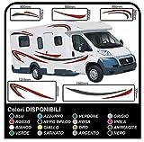 Pegatinas Camper-kit completo-vinilo pegatinas para gráficos calcomanías juego camper van RV caravana caravana x 18 pegatinas kit completo con pegatinas para autocaravanas y caravanas de alta calidad-gráficos 04 (COLORES COMO EN FOTOS)