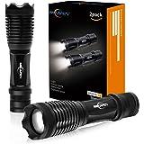 2Stk. LED Taschenlampe 5 Modi, hohes Lumen, skalierbar, wasserabweisend, Handleuchten - ideal für Camping, Wandern und Spaziergang mit Hunde