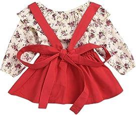 bf6f1e8746 Btruely Herren Vestido de Niña Floral Bowknot Vestido de la honda Princesa Vestido  Bautizo Bebé Niñas