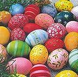 20 Servietten Colourful Eggs – Farbenfrohe Ostereier / Ostern / Frühling 33x33cm
