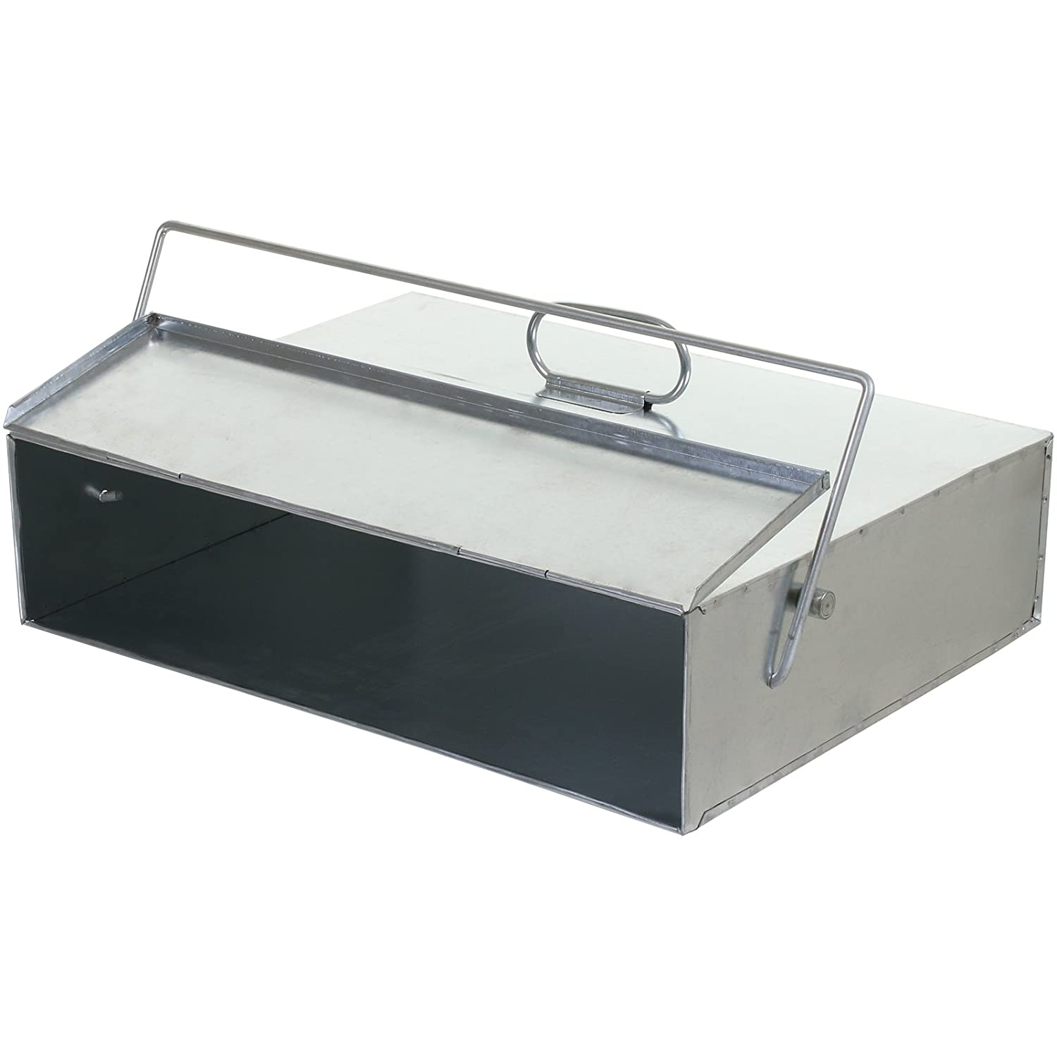 marko fireside ash carrier galvanised metal tidy box container