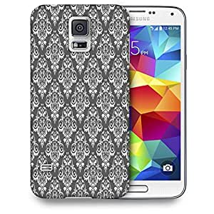 Snoogg White And Grey Pattern Printed Protective Phone Back Case Cover For Samsung S5 / S IIIII