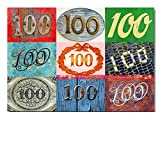 DigitalOase Glückwunschkarte 100. Geburtstag Jubiläumskarte 100. Jubiläum Geburtstagskarte Grußkarte Format DIN A4 A3 Klappkarte PanoramaUmschlag #LETTERS