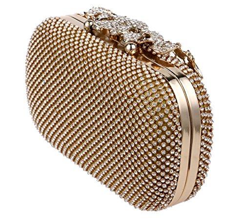 UESO , Damen Clutch Silber silber gold