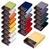 SPANNBETTLAKEN WASSERBETTEN BOXSPRINGBETTEN 180x200-200x220 165gr/m² Öko-Tex-Zertifikat Avantgarde 100% Baumwolle 19 Farben (03-hellgelb)