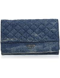 Guess - Wilson, Bolsos de mano Mujer, Blu (Denim), 3x10x17 cm (W x H L)