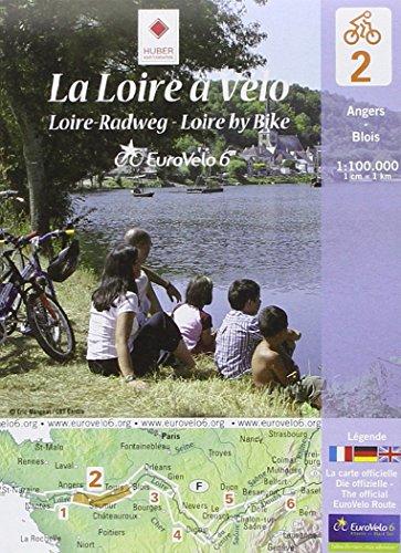 La Loire à vélo : Angers-Blois, 1/100 000 par Huber Verlag