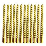 ShadowFax Golden Spiral Pillar Candle 10...